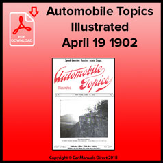 Automobile Topics Illustrated April 19 1902 Volume IV Number 1