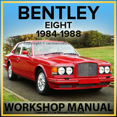 BENTLEY Eight 1984-1988 Comprehensive Factory Workshop Manual | carmanualsdirect