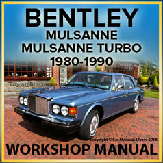 BENTLEY Mulsanne & Mulsanne Turbo 1980-1990 Comprehensive Workshop Manual
