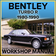 BENTLEY Turbo R 1980-1990 Comprehensive Workshop Manual