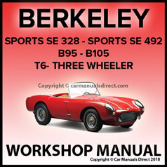 BERKELEY SE328, SE492, B95, B105, T6 Sports Workshop Manual | carmanualsdirect