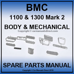 BMC 1100 and 1300 Mark 2 Spare Parts Manual | carmanualsdirect