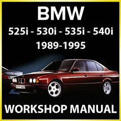 BMW E34 525i, 530i, 535i, 540i 1989-1995 Factory Workshop Manual