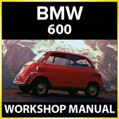 BMW 600 1957-1959 Workshop Manual