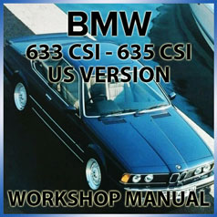 BMW E24 633 CSI and 635 CSI Factory Workshop Manual | carmanualsdirect