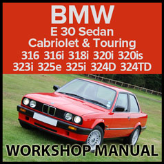 BMW E30 316 318 320 323 325 324 1982-1991 Workshop Manual