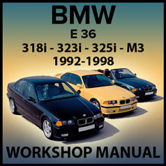 BMW E36 318i, 323i, 325i, 328i M3 Factory Workshop Manual