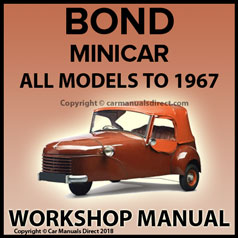 BOND MINICAR 1948-1967 Workshop Manual | carmanualsdirect