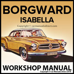 BORGWARD Isabella 1954-1962 Workshop Manual