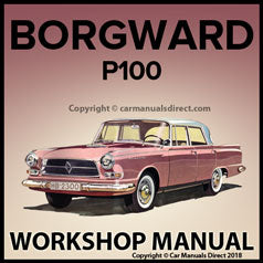 BORGWARD P100 Workshop Manual | carmanualsdirect