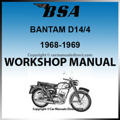 BSA Bantam 175cc D14/4 1968-1969 Workshop Manual