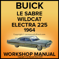 BUICK Lesabre, Wildcat, Electra 225 1964 Workshop Manual