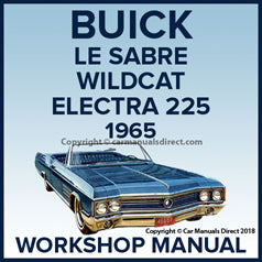 BUICK Lesabre, Wildcat, Electra 225 1965 Workshop Manual