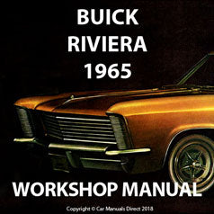 BUICK Riviera 1965 Shop Manual | carmanualsdirect