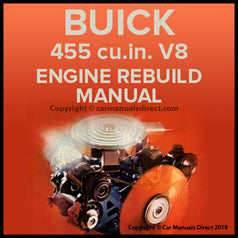 BUICK 455 cubic inch V8 Factory Engine Rebuild Shop Manual