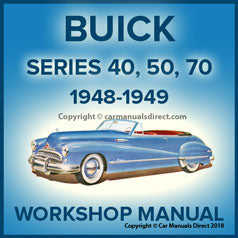 BUICK Series 40, 50 & 70 1948-1949 Shop Manual