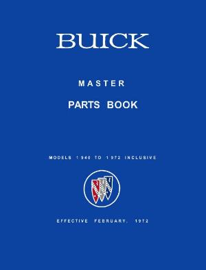 BUICK 1940-1972 Master Spare Parts Catalog