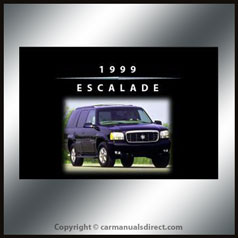 Cadillac Escalade 1999 Owners Hand Book - FREE