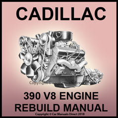 CADILLAC 390 cu. in. V8 Factory Engine Rebuild Shop Manual