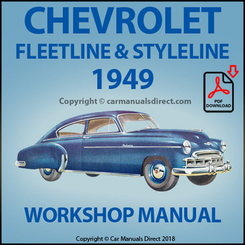 CHEVROLET Fleetline, Styleline 1949 Shop Manual | carmanualsdirect