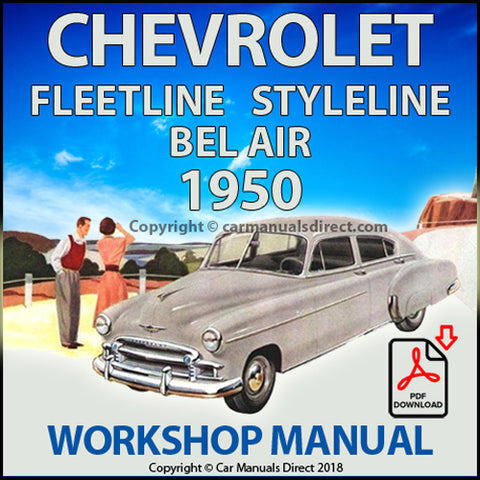 CHEVROLET 1950 Fleetline, Styleline, Bel Air Shop Manual | carmanualsdirect