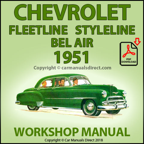 CHEVROLET Fleetline, Styleline, Bel Air, 1951 Shop Manual | carmanualsdirect