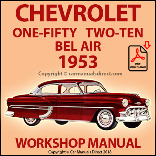 CHEVROLET 1953 One-Fifty, Two-Ten, Bel Air Shop Manual | carmanualsdirect