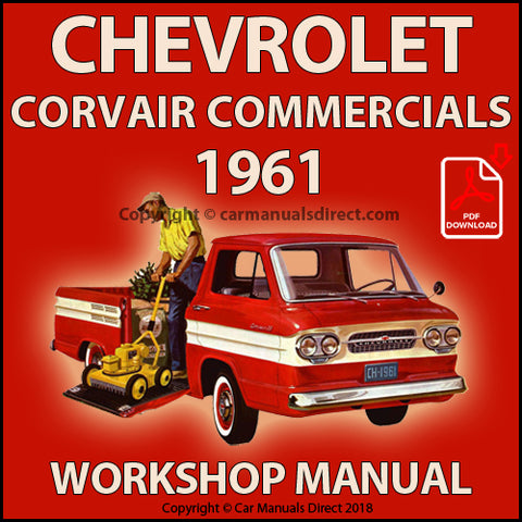 CHEVROLET 1961 Corvair 95 Pick Up and Panel Van Shop Manual | carmanualsdirect