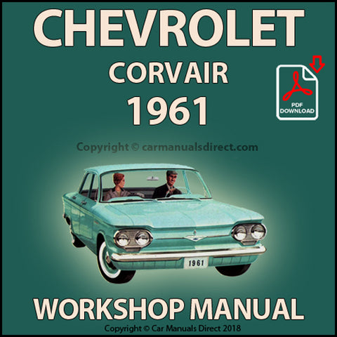 CHEVROLET Corvair, Corvair Monza 1961 Shop Manual | carmanualsdirect
