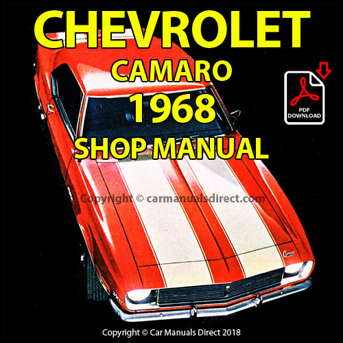 CHEVROLET 1968 Camaro, Rally Sport, SS, Z/28 Factory Shop Manual | carmanualsdirect