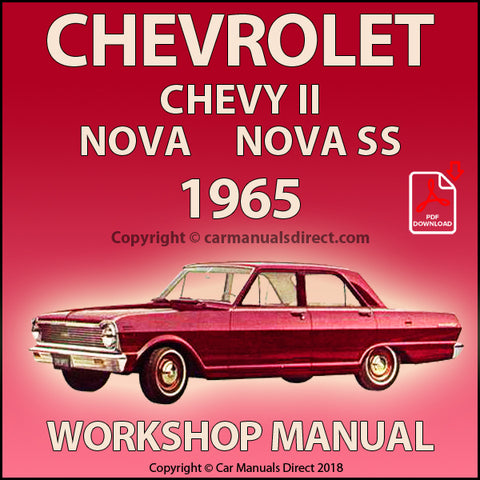 Chevrolet Chevy II, 100, Nova, Nova SS 1965 Factory Shop Manual | carmanualsdirect