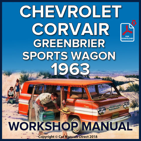 CHEVROLET 1963 Corvair Greenbrier, Sports Wagon Shop Manual | carmanualsdirect