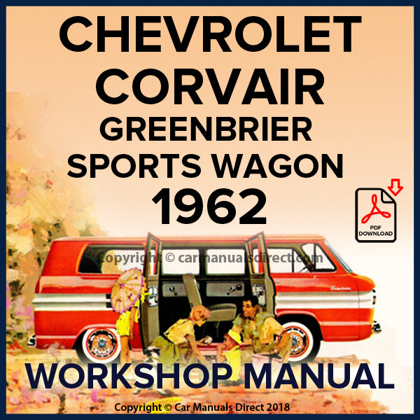 CHEVROLET 1962 Corvair Greenbrier, Sports Wagon Shop Manual | carmanualsdirect