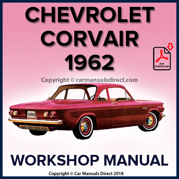 CHEVROLET 1962 Corvair and Corvair Monza Shop Manual | carmanualsdirect