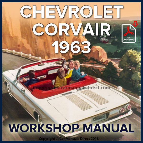 CHEVROLET 1963 Corvair Corvair Monza and Spyder Shop Manual | carmanualsdirect