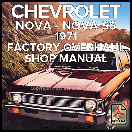 CHEVROLET 1971 Nova and Nova SS Overhaul Shop Manual | carmanualsdirect