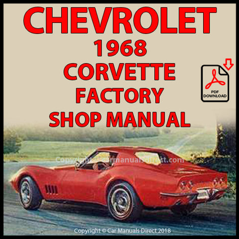 CHEVROLET 1968 Corvette Original Shop Manual | carmanualsdirect