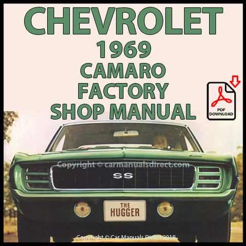 CHEVROLET 1969 Camaro, Rally Sport, SS, Z/28 Factory Shop Manual| carmanualsdirect