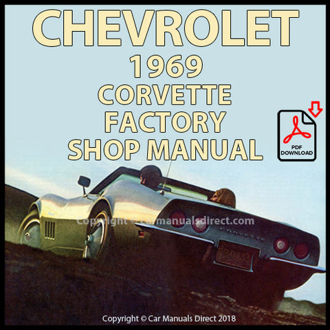 CHEVROLET 1969 Corvette Shop Manual | carmanualsdirect