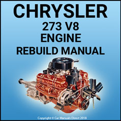CHRYSLER 273 V8 Engine Service & Overhaul Manual