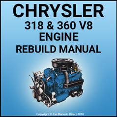 CHRYSLER 318 & 360 V8 Engine Service & Overhaul Manual