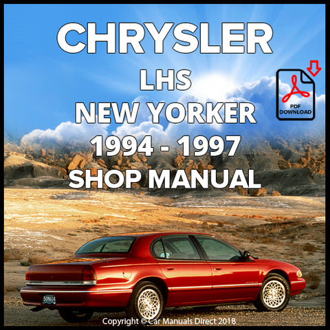 CHRYSLER 1994-1997 LHS and New Yorker Shop Manual | carmanualsdirect