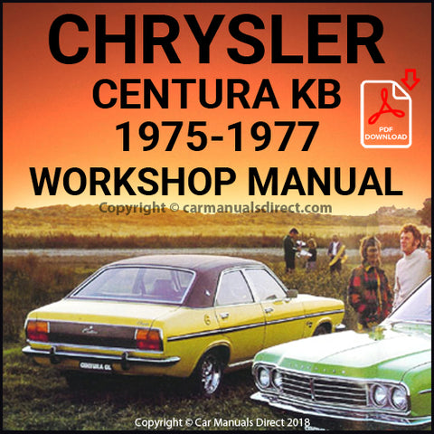 CHRYSLER 1975-1977 Centura XL and GL KB Series, Workshop Manual | carmanualsdirect