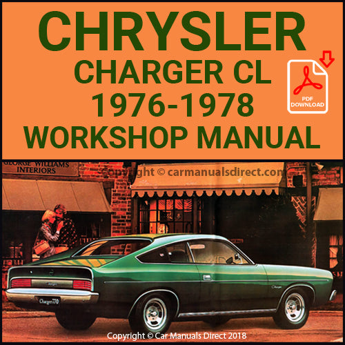 CHRYSLER 1976-78 Charger 770 CL Series Workshop Manual | carmanualsdirect