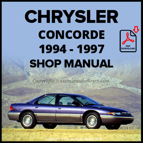 CHRYSLER 1994-1997 Concorde Shop Manual | carmanualsdirect