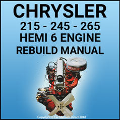 CHRYSLER 215, 245 & 265 Hemi 6 Engine Service & Overhaul Manual
