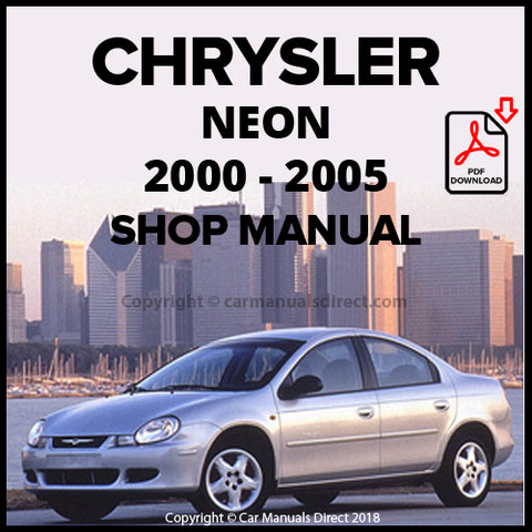 CHRYSLER 2000-2005 Neon Shop Manual | carmanualsdirect