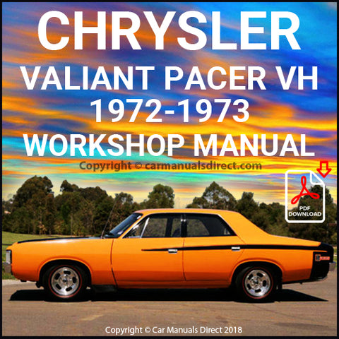 CHRYSLER 1972-1973 Valiant Pacer VH Series Workshop Manual | carmanualsdirect