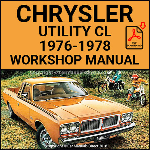 CHRYSLER 1976-78 Valiant Utility and Panel Van CL Series Workshop Manual | carmanualsdirect