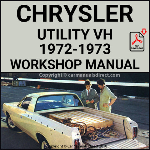 CHRYSLER 1972-1973 Valiant and Ranger Utility VH Series Workshop Manual | carmanualsdirect
